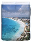 Aerial Of Cancun Duvet Cover