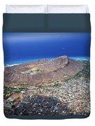 Aerial Of Diamond Head Duvet Cover