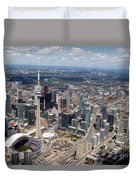 Aerial Of Downtown Toronto Ontario Duvet Cover