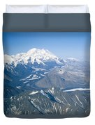 Aerial Of Mount Mckinley Duvet Cover