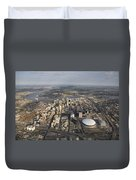 Aerial Of New Orleans Looking East Duvet Cover