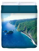 Aerial Of North Shore Duvet Cover