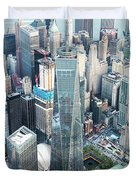 Aerial Of One World Trade Center, New York, Usa Duvet Cover