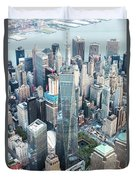 Aerial Of One World Trade Center, New York, Usa Duvet Cover