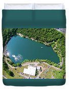 Aerial Over Blue Stone Quarry In North Carolina Duvet Cover