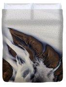 Aerial Photo Thjosa Iceland Duvet Cover