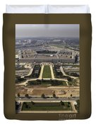 Aerial Photograph Of The Pentagon Duvet Cover