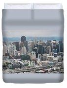 Aerial San Francisco Duvet Cover