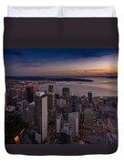 Aerial Seattle Westward View Duvet Cover