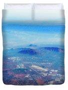 Aerial Usa. Los Angeles, California Duvet Cover