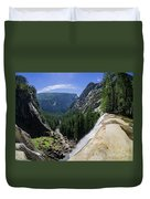Aerial View From The Top Of The Upper Yosemite Fall Duvet Cover
