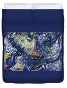 Aerial View/night City Duvet Cover