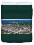 Aerial View Of A Racetrack Duvet Cover