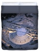 Aerial View Of Ancient Roman Theater Duvet Cover
