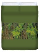 Aerial View Of Forest On Mountainside Duvet Cover