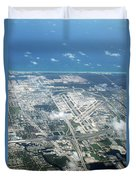 Aerial View Of Fort Lauderdale Airport. Fll Duvet Cover