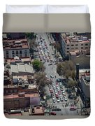 Aerial View Of Mexico Cityscape Duvet Cover