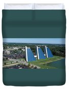 Aerial View Of Office Buildings Duvet Cover