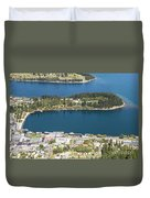 Aerial View Of Queenstown In New Zealand Duvet Cover