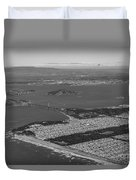 Aerial View Of San Francisco Downtown Cityscape Duvet Cover