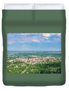 Aerial View Of The Beautiful University Of Colorado Boulder Duvet Cover
