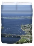 Aerial View Of The Mouth Of Merrimack Duvet Cover