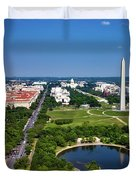 Aerial View Of The National Mall And Washington Monument Duvet Cover