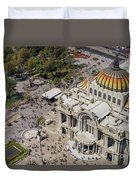 Aerial View Of The Palace Of Fine Arts Duvet Cover