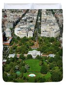 Aerial View Of The White House Duvet Cover