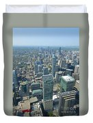 Aerial View Of Toronto Looking North Duvet Cover