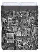 Aerial View Of Union Square Duvet Cover
