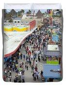 Aerial View Santa Cruz Boardwalk Duvet Cover
