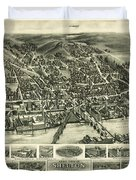 Aero View Of Watertown, Connecticut  Duvet Cover
