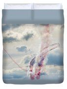 Aerobatic Group Formation  At Blue Sky Duvet Cover