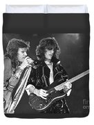 Aerosmith Tyler And Perry Duvet Cover