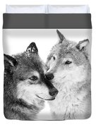 Affection Of Wolves Duvet Cover
