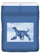 Afghan Hound-blue Duvet Cover