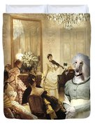 Afghan Hound-the Concert  Canvas Fine Art Print Duvet Cover