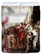 Afghan Hound-the Reverance To The Queen Canvas Fine Art Print Duvet Cover