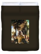 Afghan Hound-the Winch Canvas Fine Art Print Duvet Cover