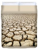 Africa Cracked Mud Duvet Cover by Larry Dale Gordon - Printscapes