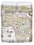 Africa Nova Map Duvet Cover