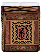 African Bird Collage Duvet Cover