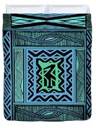 African Blue Bird Duvet Cover
