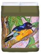 African Blue Eared Starling Duvet Cover