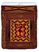 African Collage Rust Duvet Cover