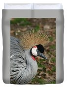 African Crowned Crane #8 Duvet Cover