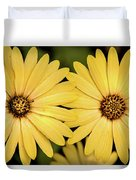 African Daisy-twice Duvet Cover
