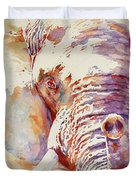 African Elephant _ The Governor Duvet Cover