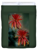 African Fire Lily Duvet Cover
